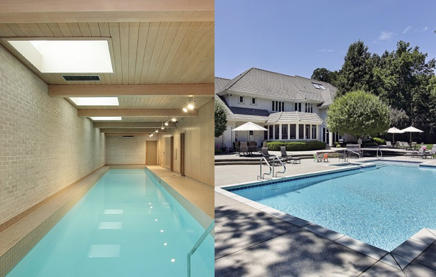 Buitenzwembad of binnenzwembad plaatsen for Kostprijs polyester zwembad