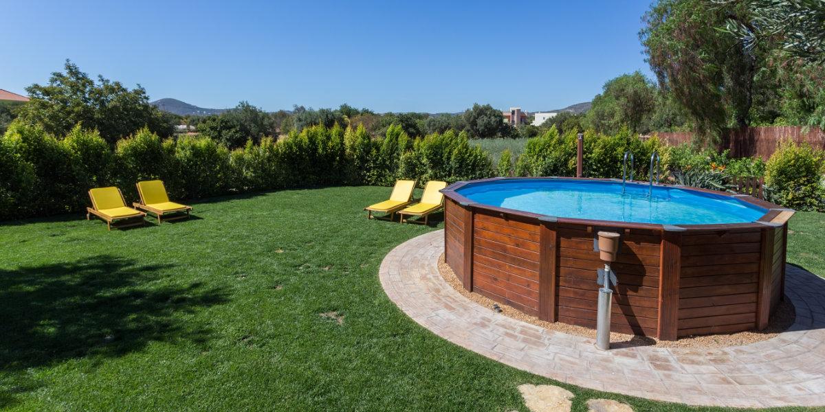 houten opzetzwembad