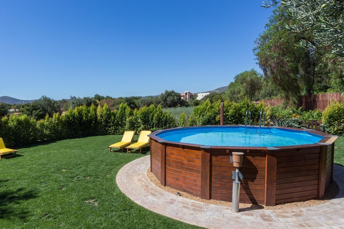 houten zwembad vrijstaand