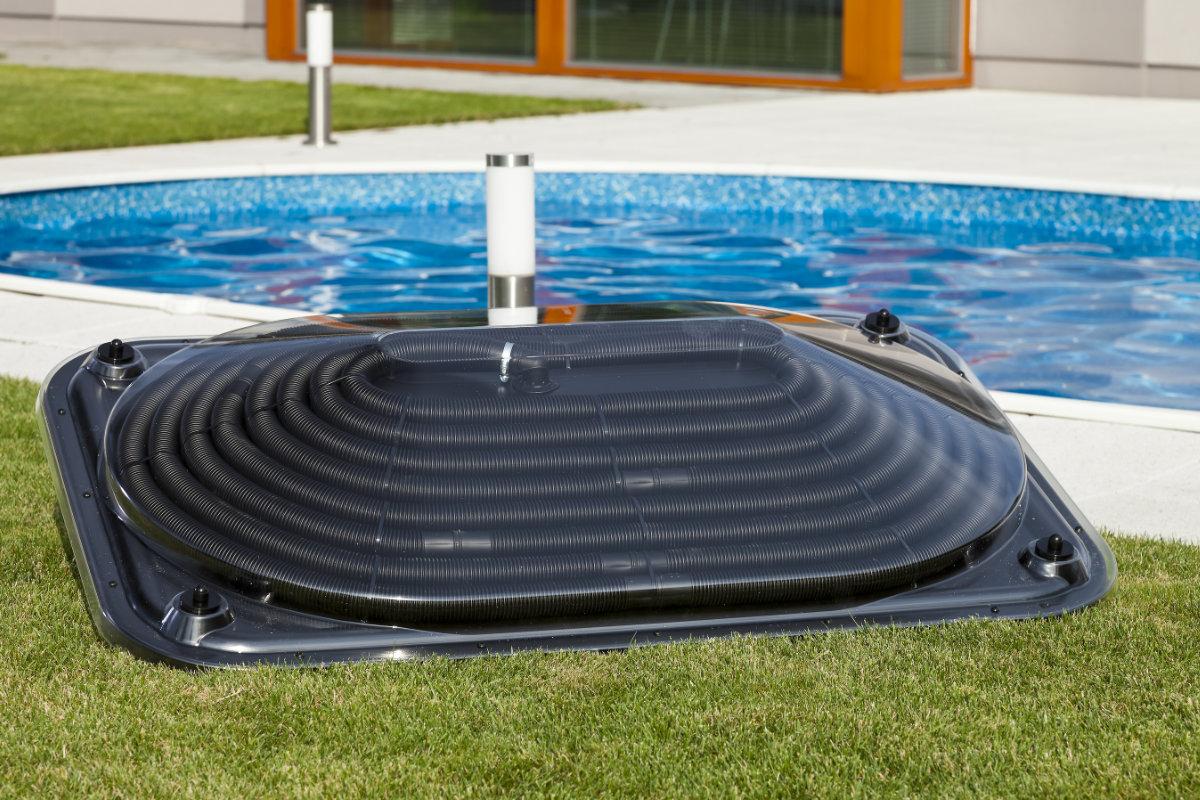 koepel zonnecollector zwembad